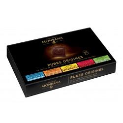 coffret assortiment chocolat noir pure origine