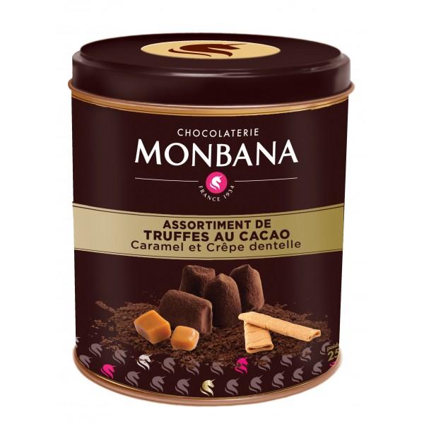 truffes au cacao aromatisées monbana