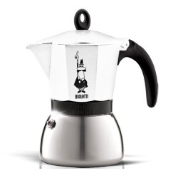 Cafetière italienne bialetti induction Moka express blanche - 6 tasses