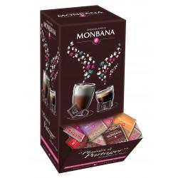 boite distributrice 200 chocolats noir et lait 10 saveurs monbana