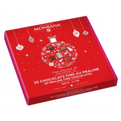 Assortiment 25 chocolats fins fourrés au praliné - Monbana
