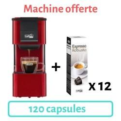 machine iris rouge offerte + 120 capsules robusto