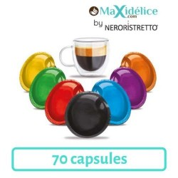 Pack Decouverte 70 capsules compatibles Lavazza a Modo Mio Maxidelice