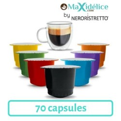 Pack Decouverte 70 capsules compatibles Nespresso® Maxidelice