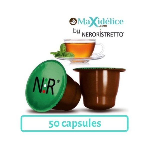 50 capsules Thé Menthe Nespresso Compatibles