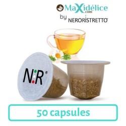 50 capsules compatibles Nespresso® Camomille Maxidelice