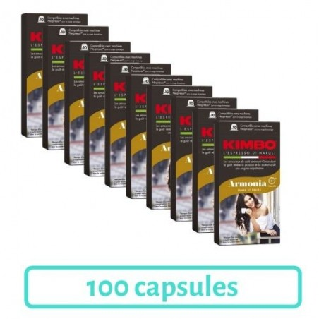 Pack 100 Capsules Kimbo Armonia Compatibles Nespresso®