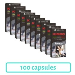 Pack 100 Capsules Kimbo Intenso Compatibles Nespresso®