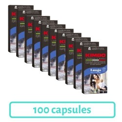 Pack 100 Capsules Kimbo Lungo Compatibles Nespresso®