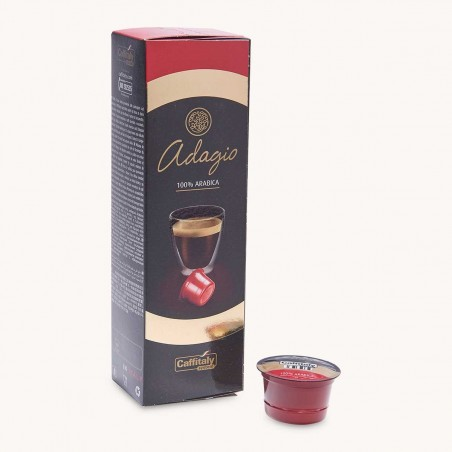 10 Capsules Café Adagio 100% Arabica Caffitaly