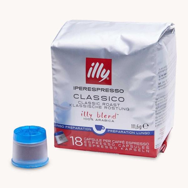 18 Capsules Café Lungo Illy Iperespresso