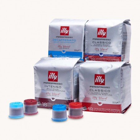 72 Capsules Pack Découverte Illy Iperespresso
