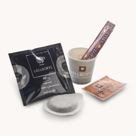 Dosettes ESE Café Nero Lollo Caffé x 150 + Kit Complet