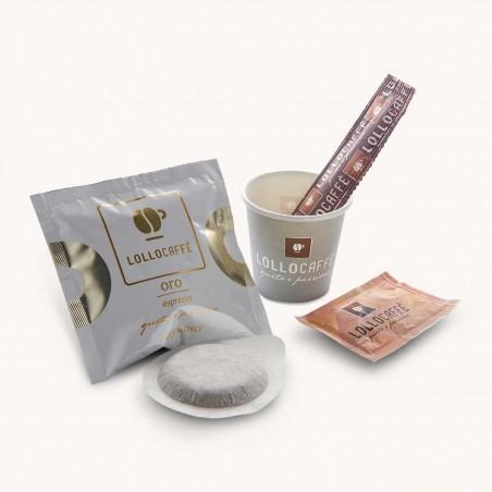 Dosettes ESE Café Oro Lollo Caffé x 150 + Kit Complet