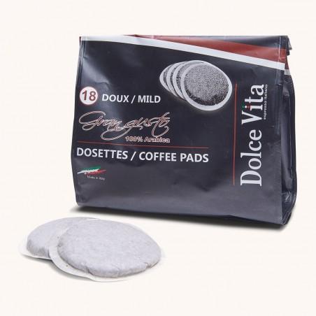 Dosettes Souples Café Gran Gusto Neroristretto pour Senséo x 18