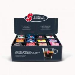 machine à café essse s12 silver et pack degustation 36 capsules