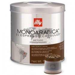 21 x Capsule café illy Iperespresso Monoarabica Brazil