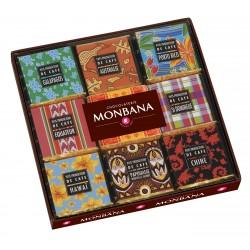 """Coffret """"Pays producteurs de café"""" Chocolat Noir Monbana"""