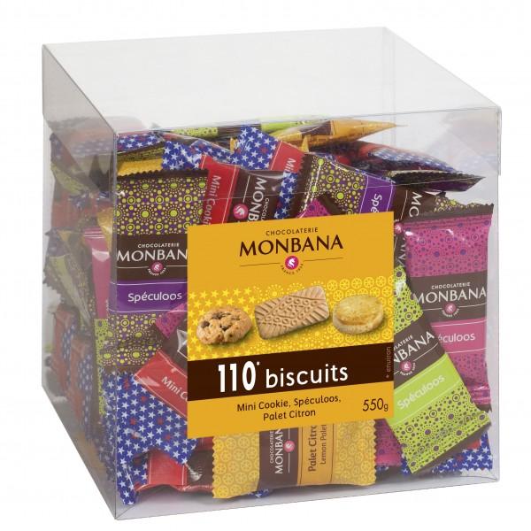Maxi box 100 biscuits monbana 550g