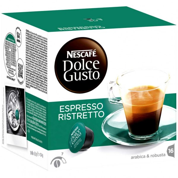 caf capsules dolce gusto espresso ristretto. Black Bedroom Furniture Sets. Home Design Ideas
