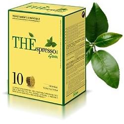 10 capsules Théspresso GREEN de la marque Vergnano compatibles Nespresso