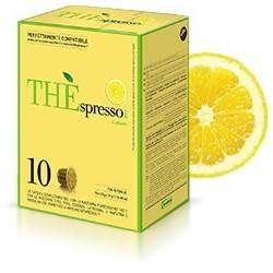 10 capsules Théspresso thé Citron de la marque Vergnano compatibles Nespresso