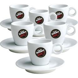 6 Tasses à café espresso Vergnano