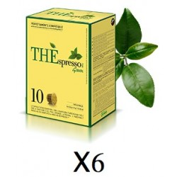 Pack 60 capsules Théspresso GREEN Vergnano compatibles Nespresso