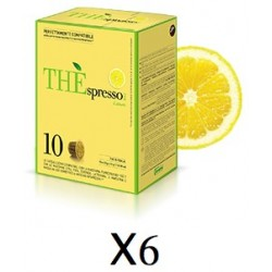 Pack 60 capsules Théspresso thé Citron Vergnano compatibles Nespresso