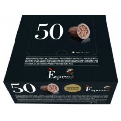 Boite de 50 Capsules Espresso Arabica Caffé Vergnano compatibles Nespresso