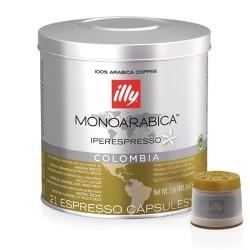 21 x Capsule café illy Iperespresso Monoarabica Colombia