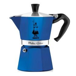 Cafetière italienne bialetti Moka Color bleue - 6 tasses