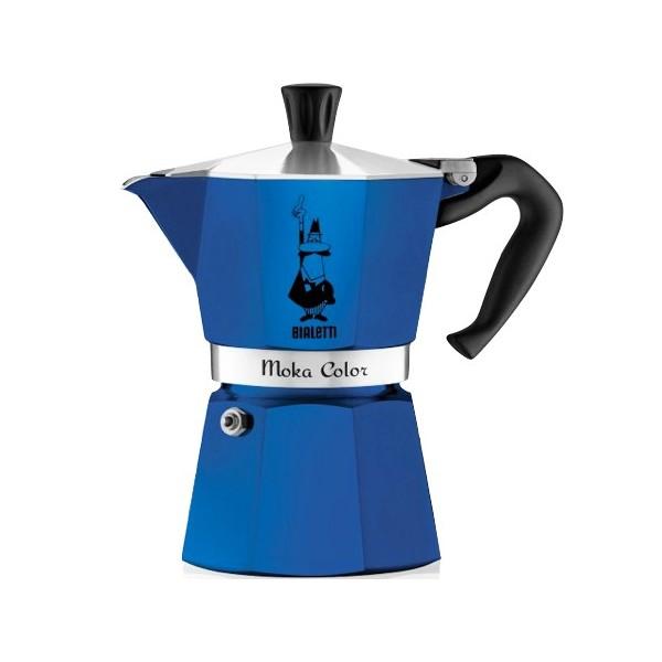 cafeti re italienne moka express color bleue 6 tasses. Black Bedroom Furniture Sets. Home Design Ideas