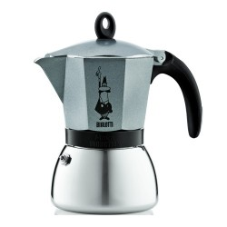 Cafetière italienne bialetti induction Moka express anthracite - 6 tasses