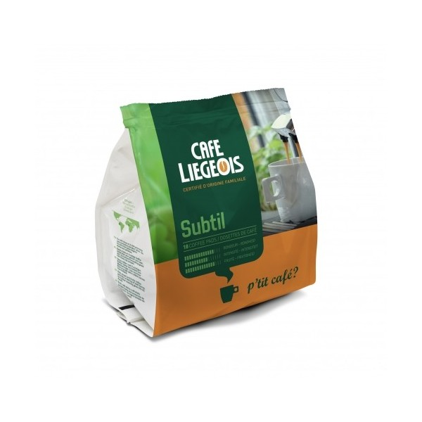 Café Dosettes Souples  Subtil x18 café liégeois pour Senseo