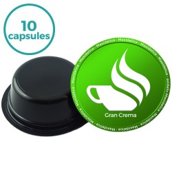 10 capsules gran crema compatibles lavazza a modo mio