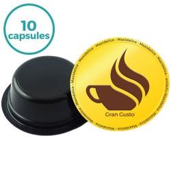 10 capsules gran gusto compatibles Lavazza a modo mio