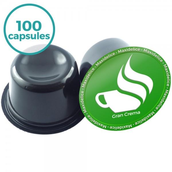 100 capsules gran crema Lavazza Blue compatibles maxidelice