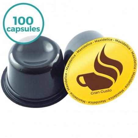 100 capsules  Lavazza Blue Compatibles café gran gusto Maxidelice