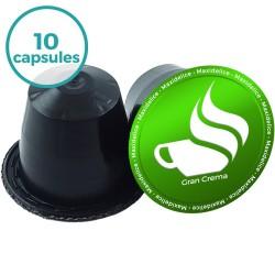 10 capsules gran crema compatibles Nespresso® Maxidelice
