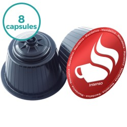 8 capsules Intenso Dolce Gusto Compatibles café Maxidelice
