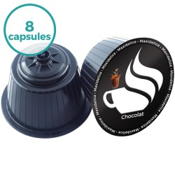 8 capsules Chocolat Dolce Gusto Compatibles Maxidelice