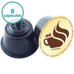 8 capsules Cappuccino Noisette Dolce Gusto Compatibles Maxidelice