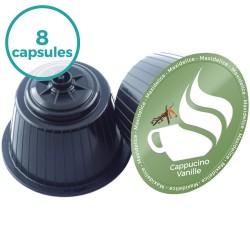 8 capsules Cappuccino Vanille  Dolce Gusto Compatibles Maxidelice