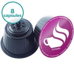 8 capsules Cortado Dolce Gusto Compatibles Maxidelice