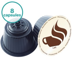 8 capsules Lait Dolce Gusto Compatibles Maxidelice