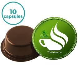 10 capsules thé menthe a modo mio Compatible
