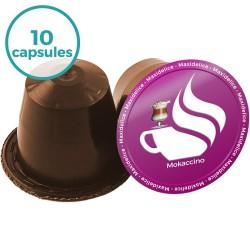 10 capsules Mokaccino compatibles Nespresso®
