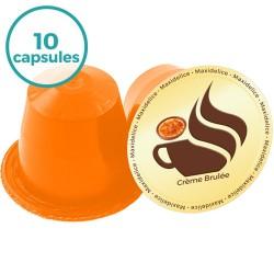 x10 capsules Crème Brulée compatibles Nespresso®