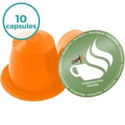 x10 capsules Cappuccino Vanille compatibles Nespresso®